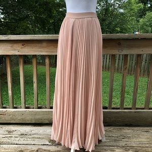 BCBG Max Azria Knife Pleat Maxi Skirt
